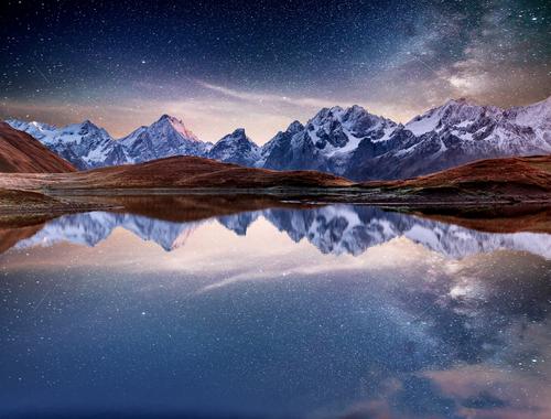 即効絶対に確実に連絡が来る待ち受けの夜の星空と湖