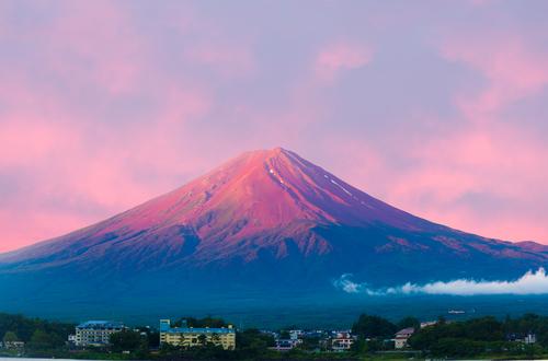 運気が上がる赤富士の待ち受け画像