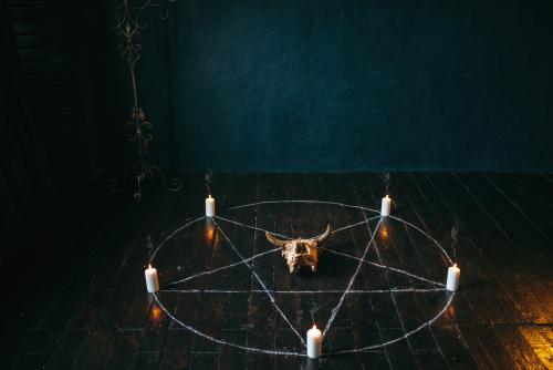 魔除けの五芒星の待ち受け画像