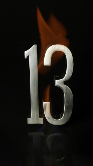 ラッキーナンバー13の待ち受け画像