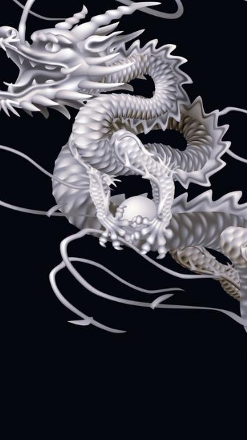 金運アップの白い龍の画像